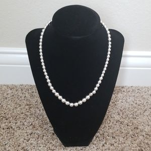 Lauren Ralph Lauren Silver Ball Necklace
